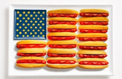 Flag Made from Food - United States