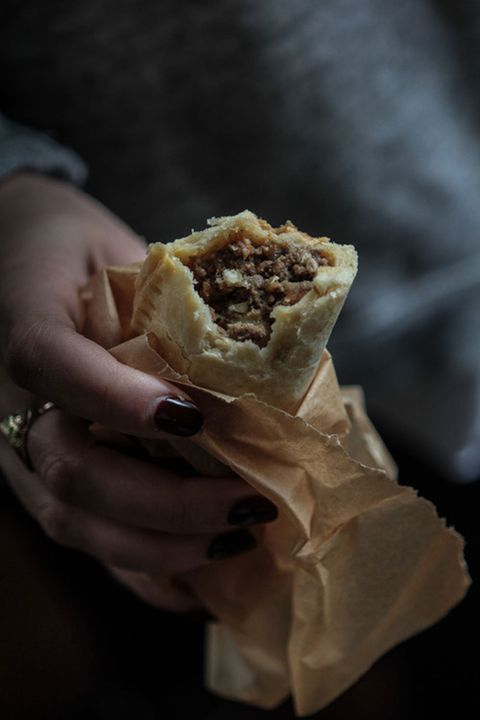 """Embark on a culinary excursion to Latin America with these hearty empanadas filled with ground beef, russet potatoes, onions and peas.  <strong>Get the recipe from <a target=""""_blank"""" href=""""http://themodernproper.com/post/108861881957/beef-empanadas"""">The Modern Proper</a>.</strong>"""