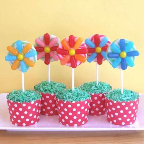 CraftyBaking - Spring Treats - Rice Krispie Treat Flower Pots