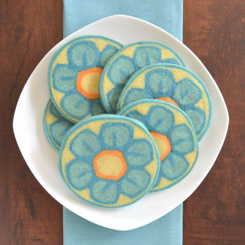 CraftyBaking Spring Treats - Millefiori Slice and Bake Cookies