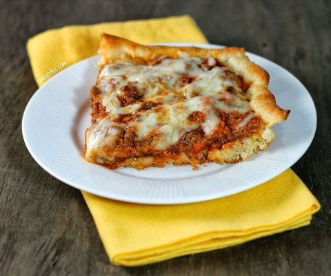 "A little less sloppy and a lot more delicious.   Get the recipe from <a href=""http://www.emilybites.com/2013/10/deep-dish-sloppy-joe-casserole.html#more"">Emily Bites</a>."