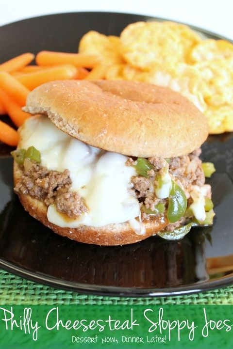 Det's a marriage made in sandwich heaven: a sloppy joe and a Philly cheesesteak.Get the recipe from Dessert Now, Dinner Later.
