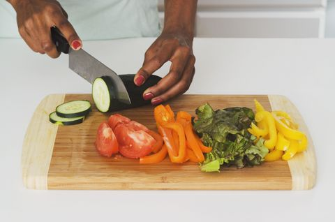 Cut Vegetables With Pizza Cutter