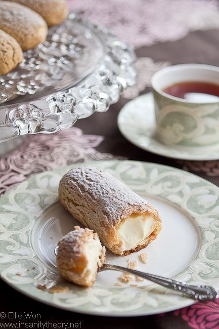 "<p>This simple and elegant eclair has a sugar topping to compliment the rich vanilla flavor.</p> <p>Get the recipe from <a target=""_blank"" href=""http://www.insanitytheory.net/kitchenwench/laduree-vanilla-eclairs/"">Kitchen Wench</a>.</p>"