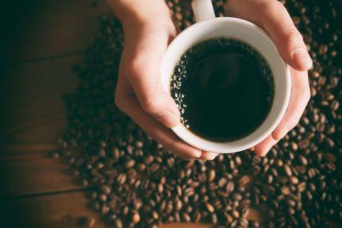 Delish - Coffee Mug with Beans