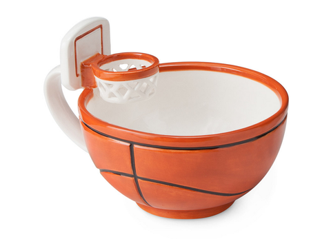 "Lebron's got nothing on your dad's mini-marshmallow free-throwing skills. <a target=""_blank"" href=""http://www.uncommongoods.com/product/the-mug-with-a-hoop"">Uncommon Goods</a>, $24"