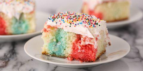 Rainbow Poke Cake Recipe