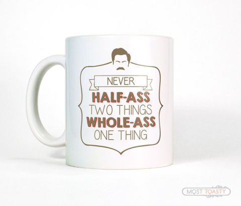 Ingen gets your dad like Ron Swanson. Nobody. Etsy, $14
