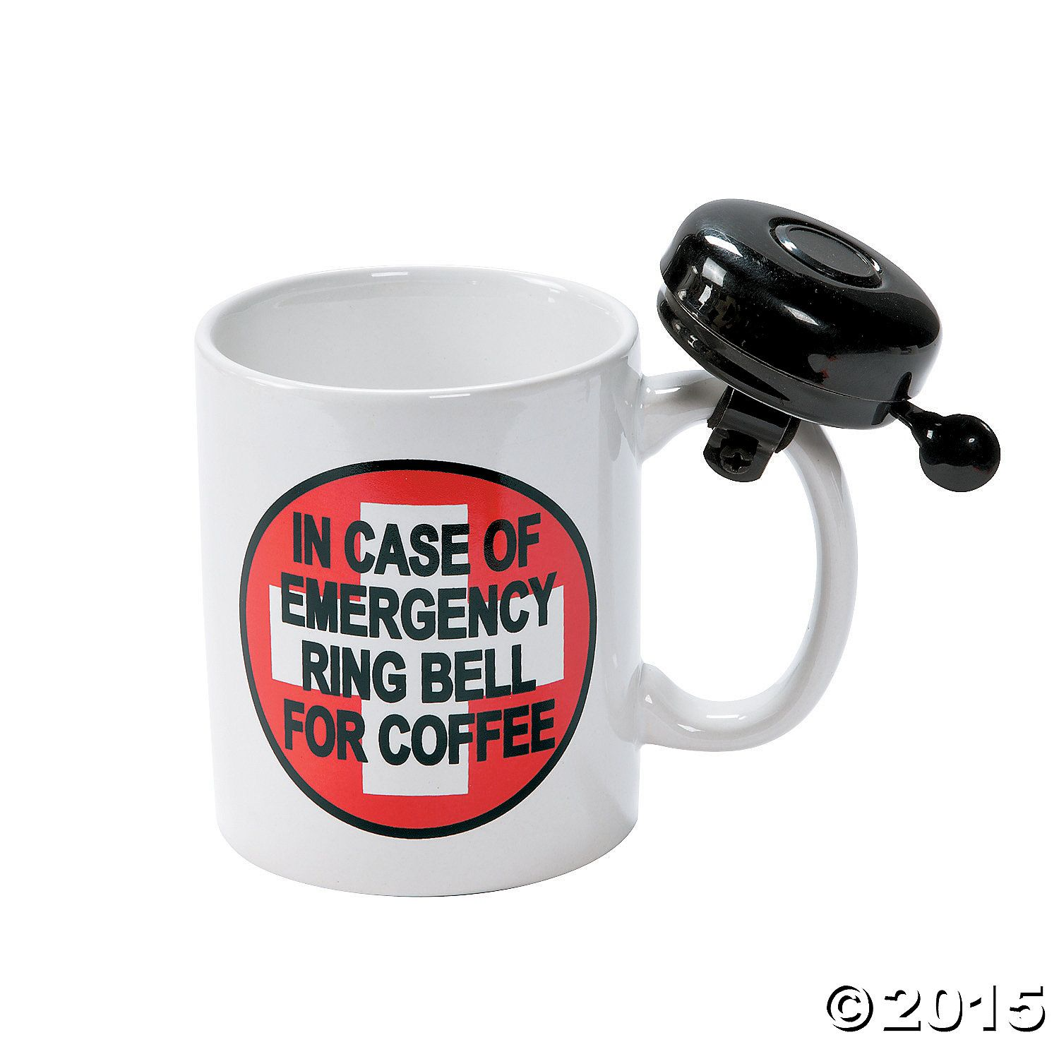 Nyata talk: He's going to have way too much fun ringing that bell. All. Day. Long. Oriental Trading, $8.25