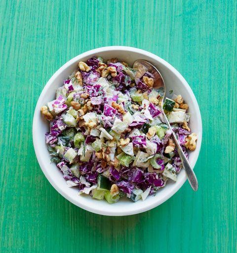 Food, Salad, Purple, Cuisine, Vegetable, Leaf vegetable, Recipe, Produce, Vegetarian food, Mixture,
