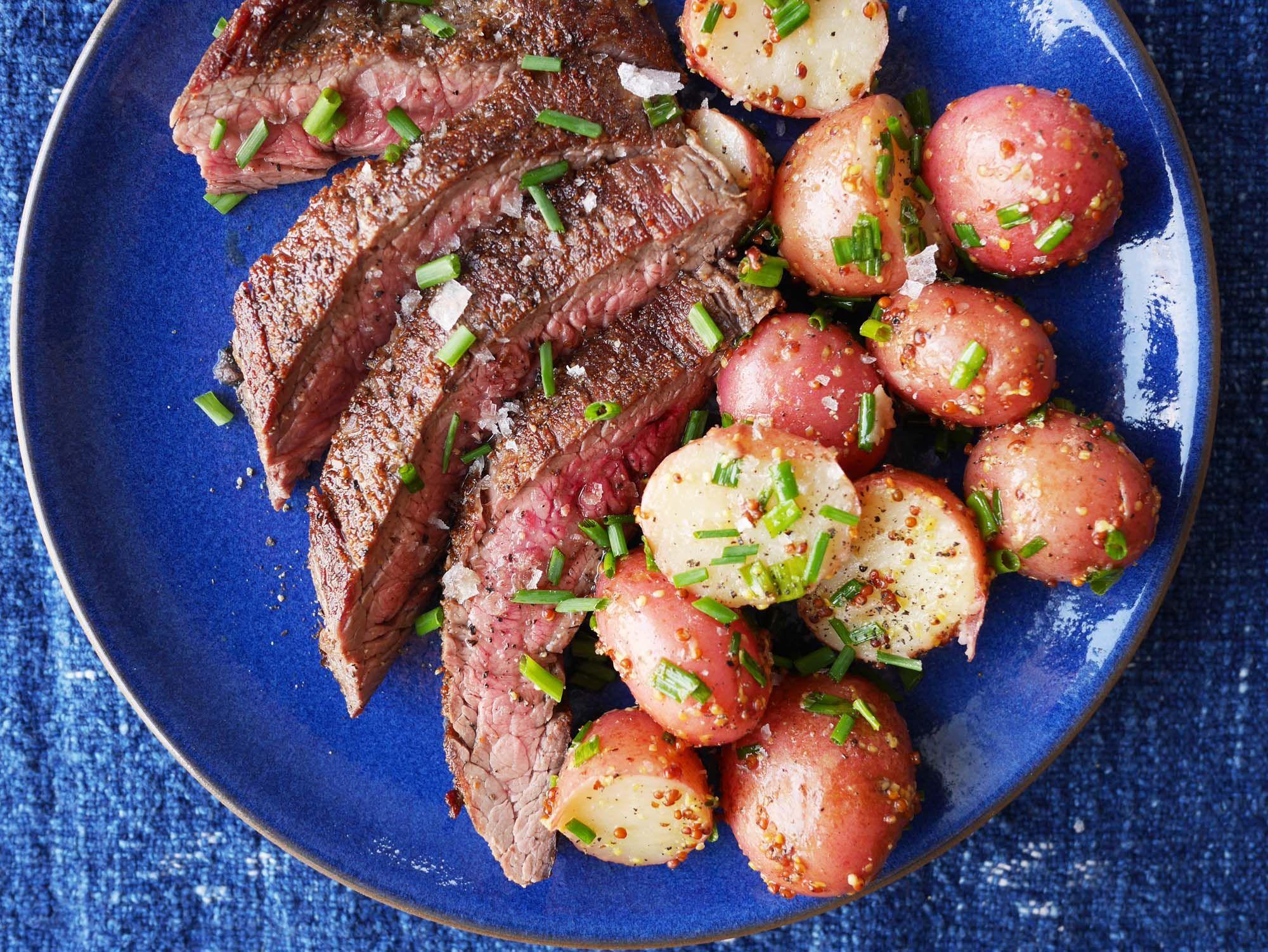 BBQ Skirt Steak with Warm Potato Salad picture