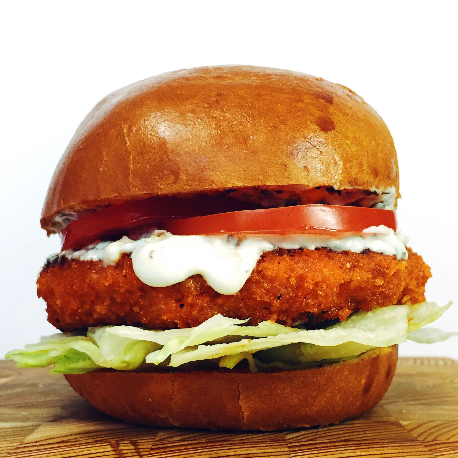 Buffalo Chicken Burger With Blue Cheese Ranch Recipe