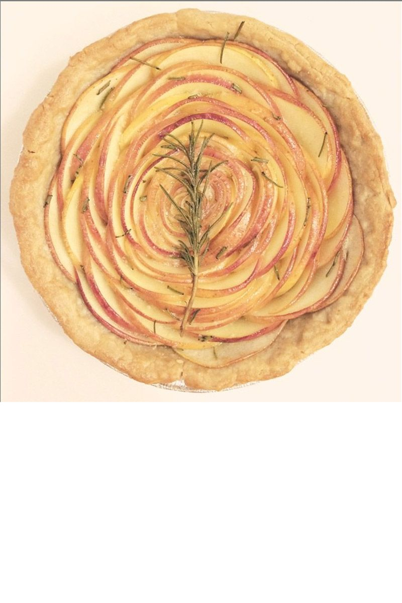 """Conrad turned a simple apple rosemary tart into art you can eat. <a target=""""_blank"""" href=""""https://instagram.com/laurenconrad/"""">@laurenconrad</a>"""