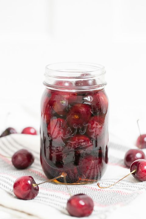 Produce, Food, Ingredient, Fruit, Mason jar, Berry, Glass, Cherry, Natural foods, Food storage containers,