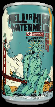 สด watermelon is added to this pale straw-colored wheat ale, making it ultra crisp and cool.