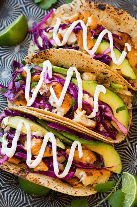 Grilled Fish Tacos, Cinco de Mayo