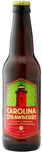 มัน's pretty sweet when a decadent, autumn-feeling cream ale is kissed with bright and summery ripe strawberries.