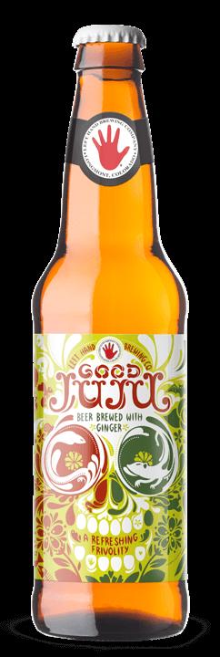 นี้ light golden beer is brewed with pungent ginger, which will give your tastebuds a love bite.