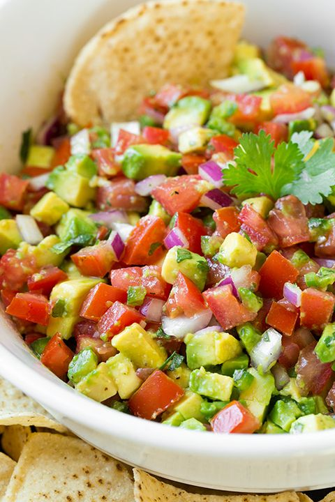 "<p>Avocado + salsa=poolside perfection.</p> <p>Get the recipe from <a target=""_blank"" href=""http://www.cookingclassy.com/2014/07/avocado-salsa/"">Cooking Classy.</a></p>"