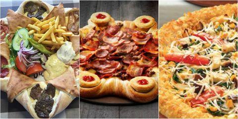 Crazy Pizzas Around the World Collage
