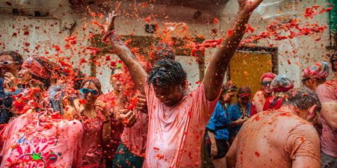 Red, Pink, Adaptation, Temple, Maroon, Mud, Flesh, Ritual, Tradition,