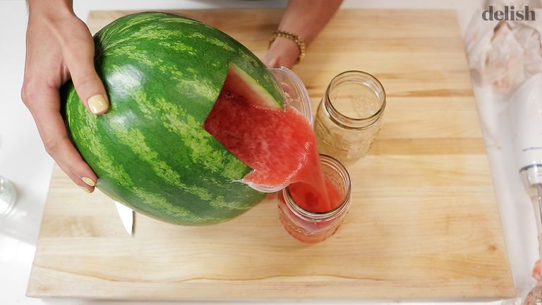 Watermelon jug how to turn a watermelon into a jug andrew barell forumfinder Gallery
