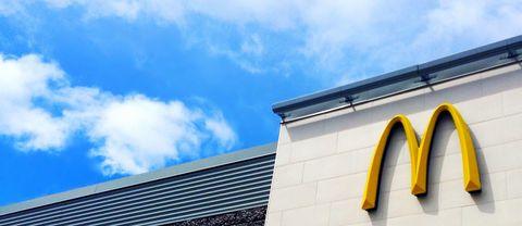 McDonald's Signage Against Blue Sky