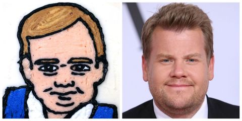 Baby George or James Corden? cake
