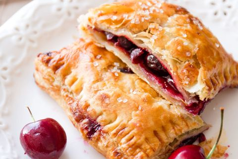 cherry puff pastry pies