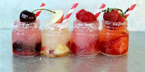 Liquid, Fruit, Produce, Ingredient, Sweetness, Peach, Natural foods, Recipe, Strawberries, Cocktail garnish,
