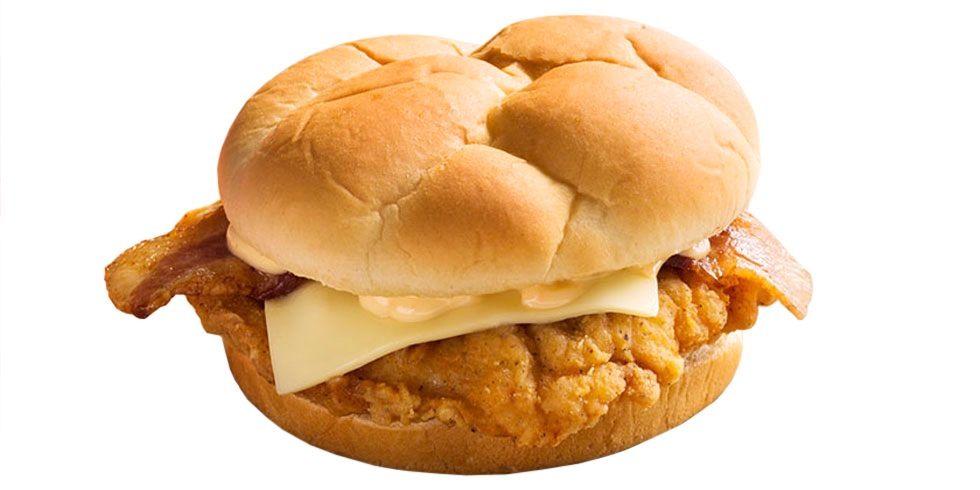 """<p><strong>Official Menu Description: </strong>""""Mankind's greatest foods combined: a boneless breast filet of the Colonel's Original Recipe covered with bacon, topped with Monterey Jack and sauce and served on a sweet Hawaiian bun.""""—<a href=""""http://www.kfc.com/"""" target=""""_blank""""><em>KFC's website</em></a><strong></strong></p><p><strong></strong><strong>Verdict:</strong> Sweet Hawaiian bun indeed. We probably should have been better prepared for the sweetness of the bun, and it definitely stood out, just not in a good way. The chicken has that classic KFC spice, which we can't resist, plus the cheese and bacon win points for showing up. Pretty standard, if not solid. </p>"""