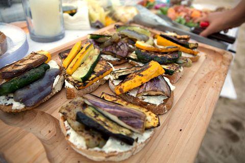 Lidey's Summer Vegetables and Ricotta Tartine