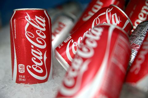 Beverage can, Aluminum can, Red, Carbonated soft drinks, Logo, Font, Tin can, Carmine, Tin, Metal,
