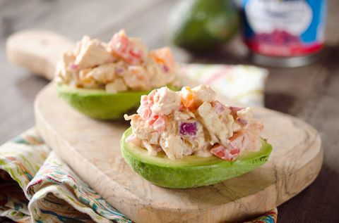 "<p>Avocado slices aren't enough. Just go full on and stuff it — you'll get avocado in every single bite. </p><p><span></span>Get the recipe from <a href=""http://www.thecreativebite.com/chipotle-chicken-salad-stuffed-avocados/"">The Creative Bite</a>.<br></p><p><span></span></p>"