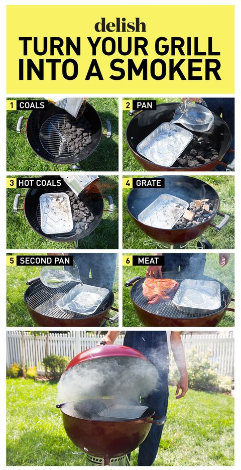 How To Turn Your Grill Into A Smoker Delish Com