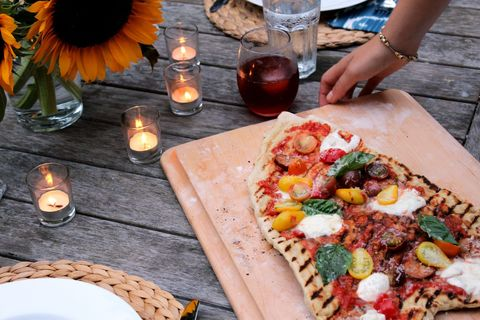 Lidey's Table - Grilled Pizza -Table