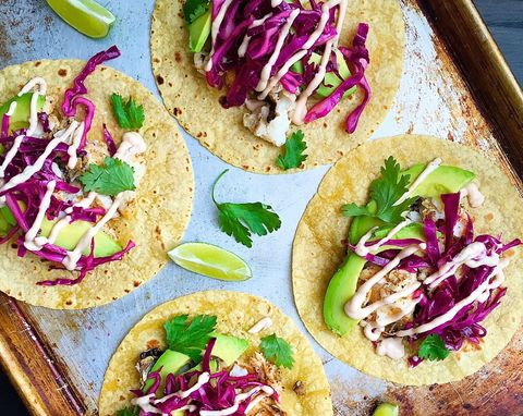 grilled cod tacos with chipotle crema