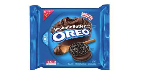 Oreo, Finger food, Food, Dessert, Sandwich Cookies, Ingredient, Sweetness, Cookies and crackers, Chocolate, Logo,