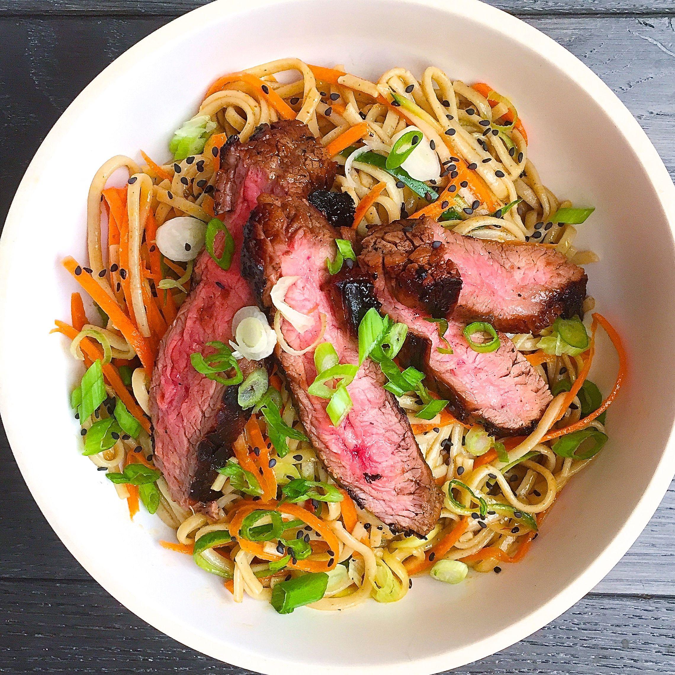 Best Soba Noodle Salad With Grilled Flank Steak Recipe How To Make Delish