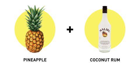 Ananas, Bottle, Produce, Fruit, Font, Logo, Vegan nutrition, Bottle cap, Natural foods, Liquid,