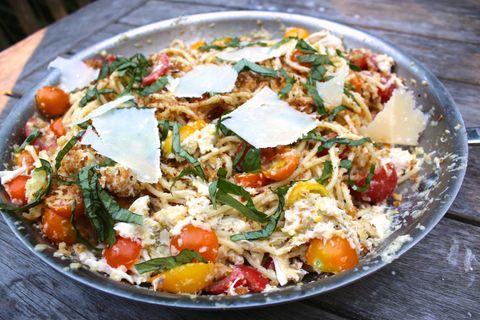 Lidey's Table - Corn Pesto Pasta - Skillet
