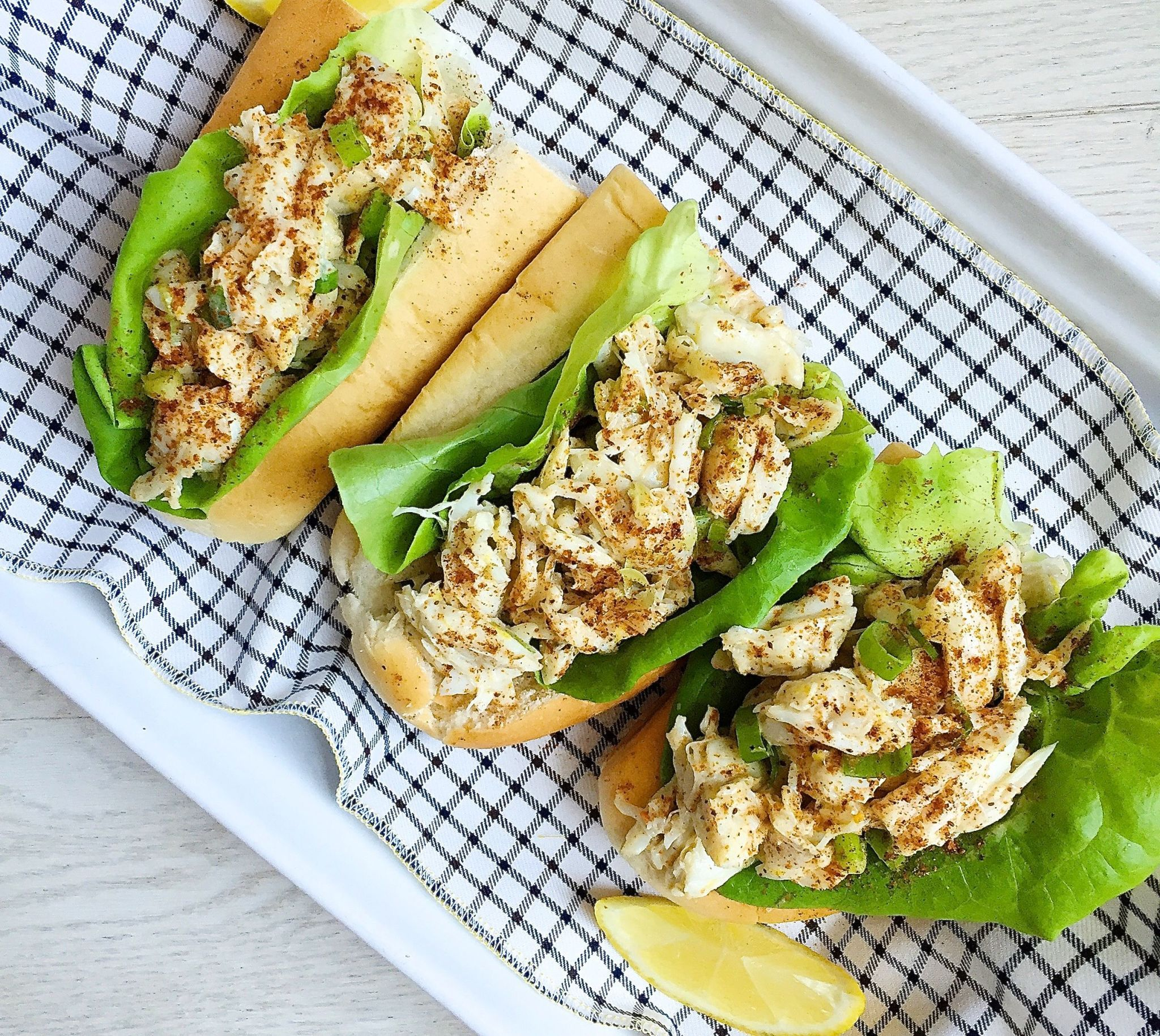 easy lemony crab rolls for summer great for a picnic