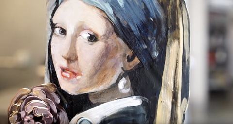 Nose, Cheek, Eyebrow, Style, Art, Paint, Watercolor paint, Artwork, Art paint, Portrait,
