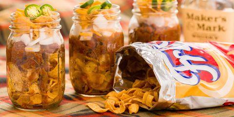 10 Easy Tailgate Food Ideas To Make In Mason Jars Tailgating Recipes Delish Com