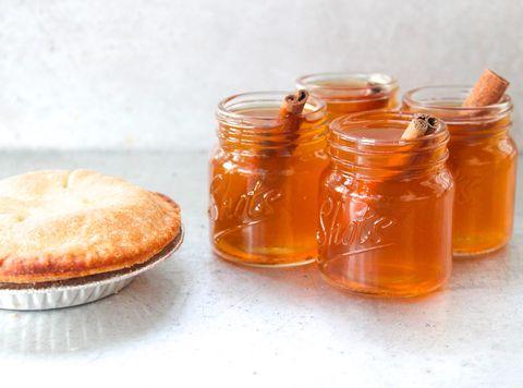 apple pie bourbon shots