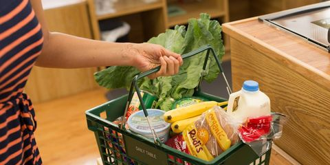 Food, Produce, Basket, Ingredient, Leaf vegetable, Storage basket, Bottle, Home accessories, Vegetable, Whole food,