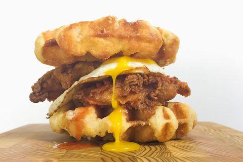 Chicken and Waffles Breakfast Sandwich