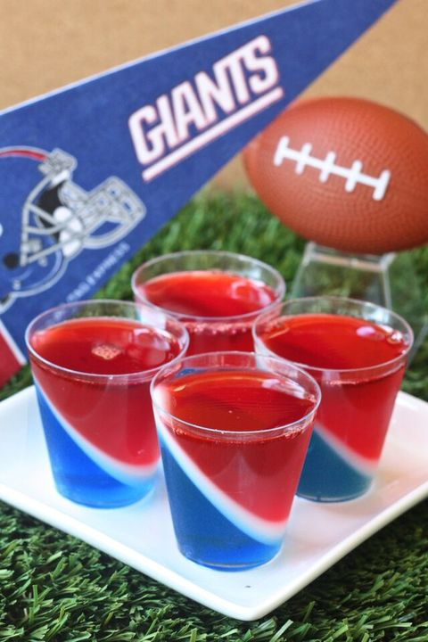 New York Giants Jell-O Shots