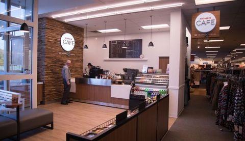 Lighting, Retail, Interior design, Logo, Customer, Trade, Outlet store, Signage, Clothes hanger, Display case,