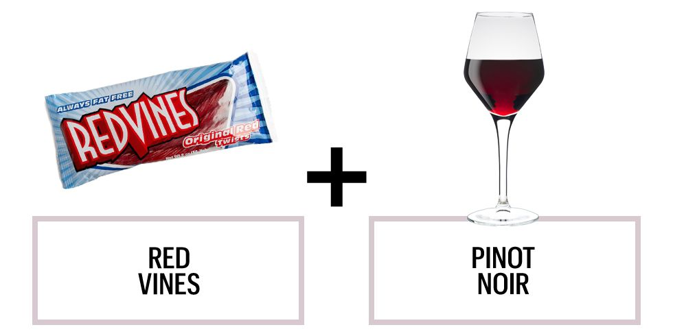 <p>A Pinot Noir will round out Red Vines' strawberry flavors, according to Robinson. (And if you're tempted, we give you total permission to drink wine through the straw because why not?)</p><p><strong>Recommended wine: </strong>ONEHOPE Pinot Noir</p>